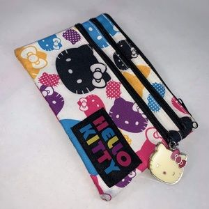 Colorful Hello Kitty Pouch with 3 Pockets